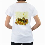 Squirrel  Women s Loose-Fit T-Shirt (White) Back