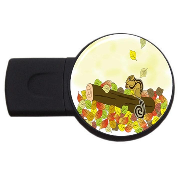 Squirrel  USB Flash Drive Round (4 GB)
