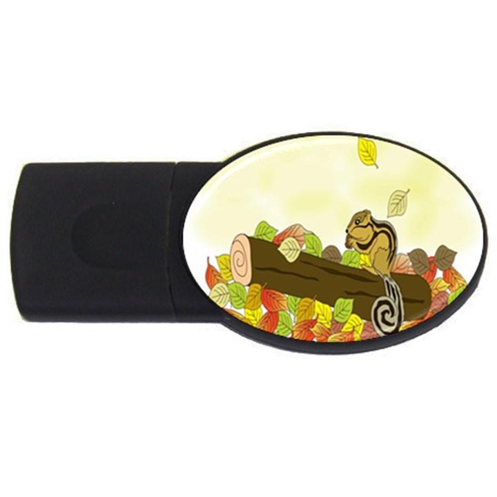 Squirrel  USB Flash Drive Oval (4 GB)