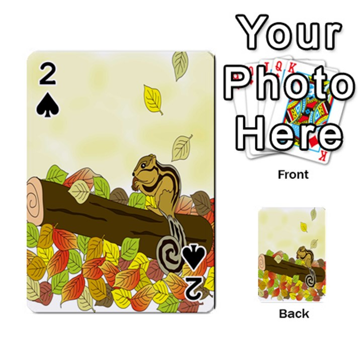 Squirrel  Playing Cards 54 Designs