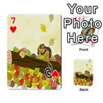 Squirrel  Playing Cards 54 Designs  Front - Heart7