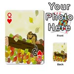 Squirrel  Playing Cards 54 Designs  Front - HeartQ