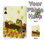 Squirrel  Playing Cards 54 Designs  Front - Spade6
