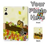 Squirrel  Playing Cards 54 Designs  Front - SpadeJ