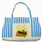 Squirrel  Striped Blue Tote Bag Front