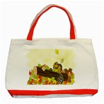 Squirrel  Classic Tote Bag (Red) Front