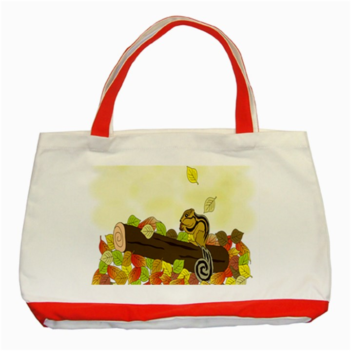 Squirrel  Classic Tote Bag (Red)
