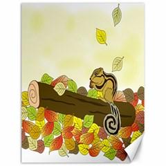 Squirrel  Canvas 12  x 16