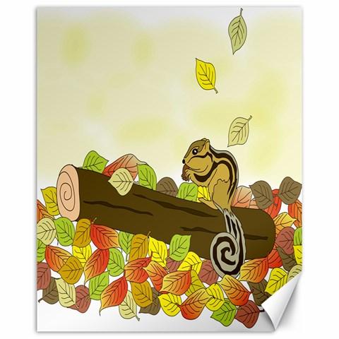 Squirrel  Canvas 16  x 20