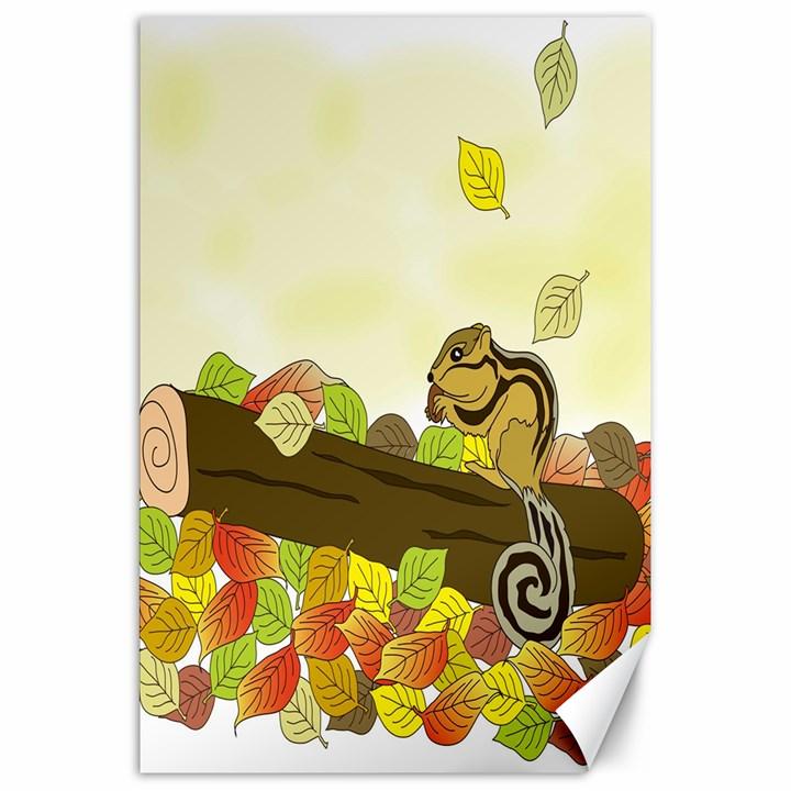Squirrel  Canvas 20  x 30