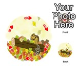Squirrel  Playing Cards 54 (Round)  Front - Heart8