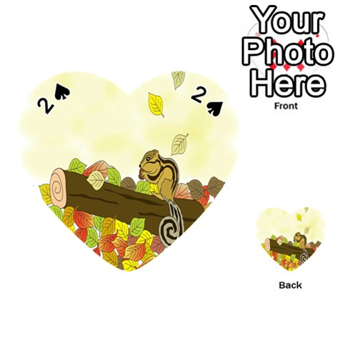 Squirrel  Playing Cards 54 (Heart)