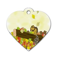 Squirrel  Dog Tag Heart (Two Sides)