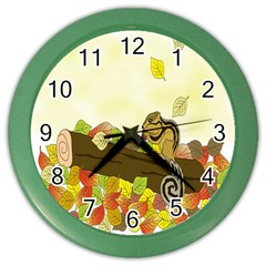 Squirrel  Color Wall Clocks