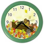Squirrel  Color Wall Clocks Front