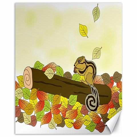 Squirrel  Canvas 11  x 14