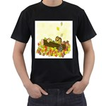 Squirrel  Men s T-Shirt (Black) Front