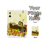Squirrel  Playing Cards 54 (Mini)  Front - Spade4