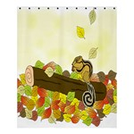 Squirrel  Shower Curtain 60  x 72  (Medium)  60 x72 Curtain