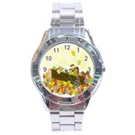 Squirrel  Stainless Steel Analogue Watch Front
