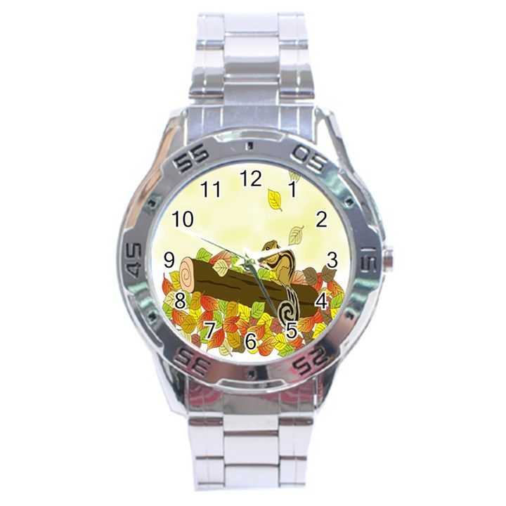 Squirrel  Stainless Steel Analogue Watch