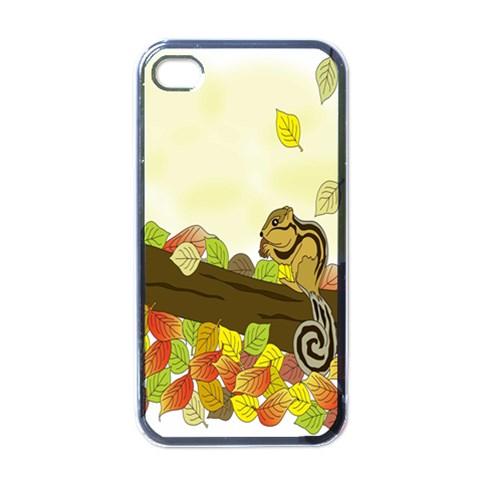 Squirrel  Apple iPhone 4 Case (Black)
