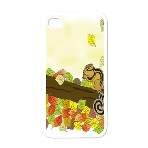 Squirrel  Apple iPhone 4 Case (White)