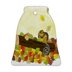 Squirrel  Bell Ornament (2 Sides)