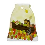Squirrel  Bell Ornament (2 Sides) Back