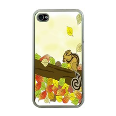 Squirrel  Apple iPhone 4 Case (Clear)