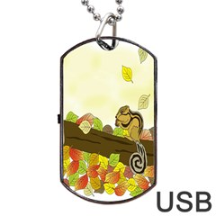 Squirrel  Dog Tag USB Flash (One Side)