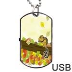 Squirrel  Dog Tag USB Flash (Two Sides)  Back