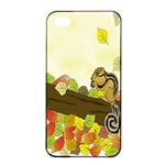 Squirrel  Apple iPhone 4/4s Seamless Case (Black) Front