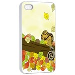 Squirrel  Apple iPhone 4/4s Seamless Case (White) Front
