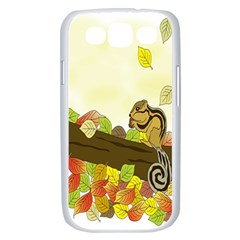 Squirrel  Samsung Galaxy S III Case (White)