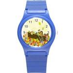 Squirrel  Round Plastic Sport Watch (S) Front