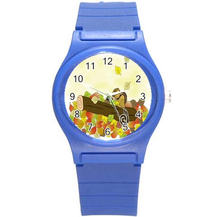 Squirrel  Round Plastic Sport Watch (S)