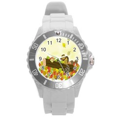 Squirrel  Round Plastic Sport Watch (L)
