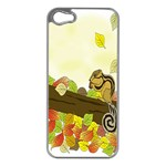 Squirrel  Apple iPhone 5 Case (Silver) Front