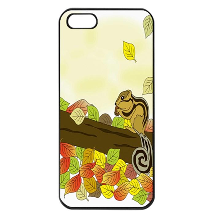 Squirrel  Apple iPhone 5 Seamless Case (Black)