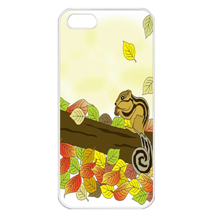 Squirrel  Apple iPhone 5 Seamless Case (White)