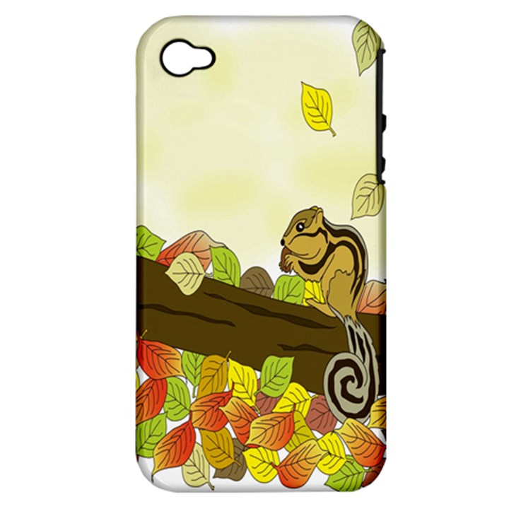 Squirrel  Apple iPhone 4/4S Hardshell Case (PC+Silicone)