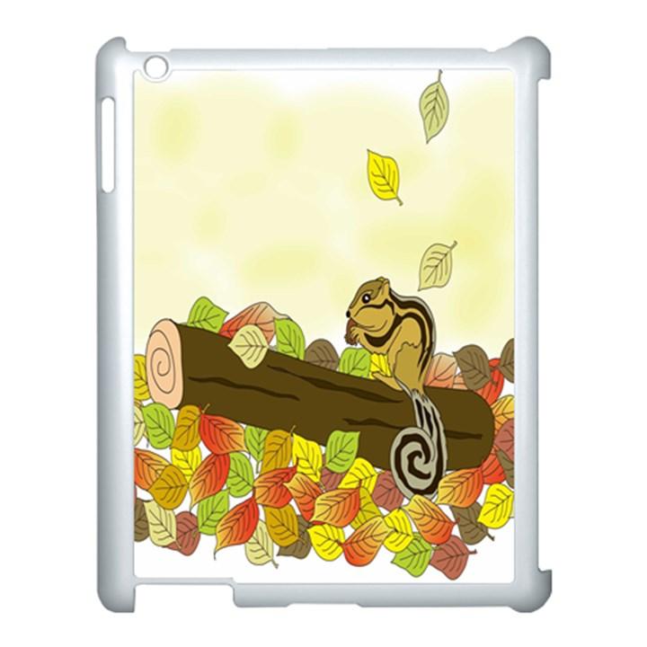 Squirrel  Apple iPad 3/4 Case (White)