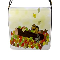 Squirrel  Flap Messenger Bag (L)