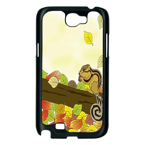 Squirrel  Samsung Galaxy Note 2 Case (Black)