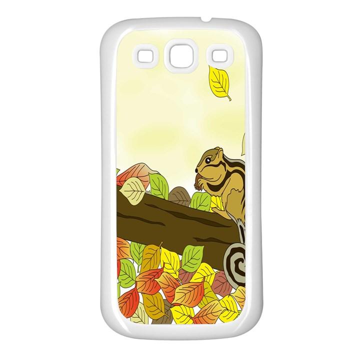 Squirrel  Samsung Galaxy S3 Back Case (White)
