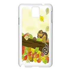 Squirrel  Samsung Galaxy Note 3 N9005 Case (White)