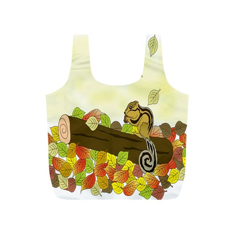 Squirrel  Full Print Recycle Bags (S)