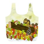 Squirrel  Full Print Recycle Bags (L)  Back