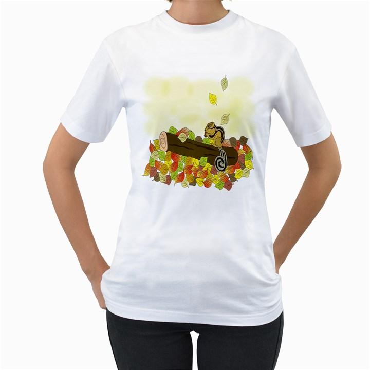 Squirrel  Women s T-Shirt (White)